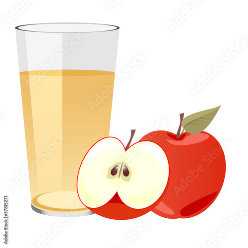 Apple Juice with apples