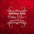 red christmas background with label for sale, vector