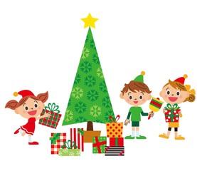 子供達でクリスマス
