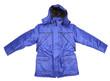 Close up of man's blue jacket.