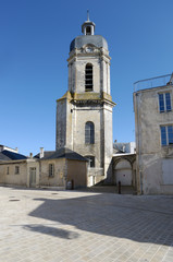 Bishopric and the church St-Jean-Du-Perot in La Rochelle, France