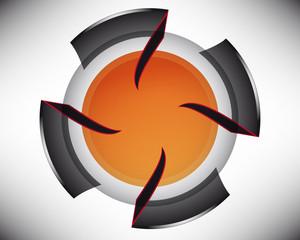 Techno vortex orange