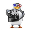Penguin is working on his next 3d movie