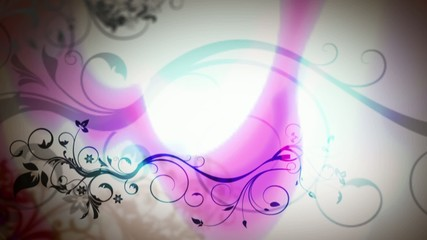 Floreale Blu Rosa nel Bianco