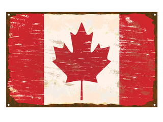 Canada Flag Enamel Sign