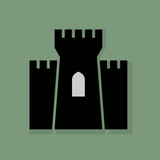 Castle icon or sign, vector illustration