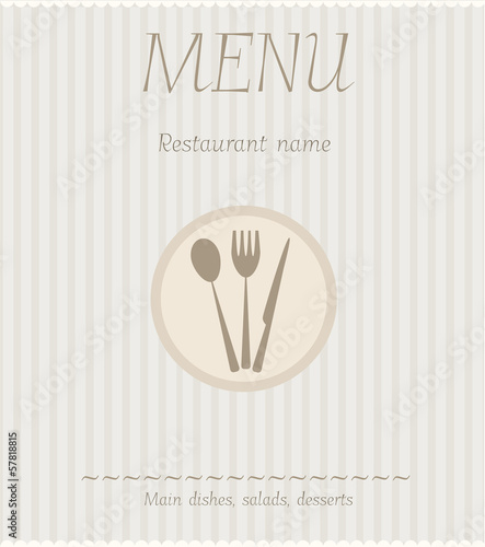 Menu template background