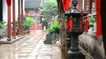 Jade Buddha Temple in the rain