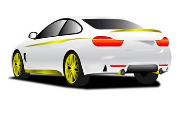auto sportiva bianca tedesca