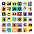Business marketing social media icon set