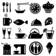 Food icons set, vector format