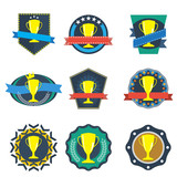 Vintage trophy badge, vector format