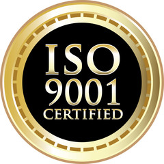 ISO 9001 Certified Black Emblem