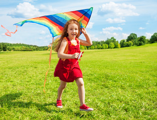 Happy girl with kite