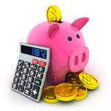 Calculate and moneybox