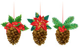 Christmas decorations from pine cones
