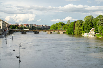 Turin (Torino) river Po flooding