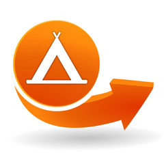 camping sur bouton web orange