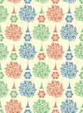 seamless pattern with abstract trees