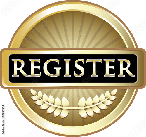 Register Gold Vintage Label