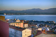 general view from up at dusk in the city of Santander, Spain