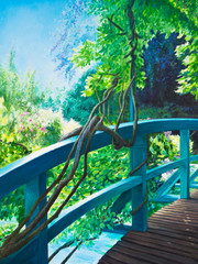Bridge at Giverny Water Lily Pond