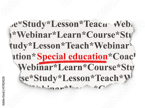 Education concept: Special Education on Paper background
