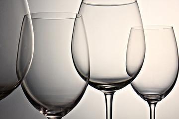 Copas de vino. Cristal. Bodegón. Cuatro
