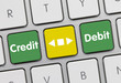 Credit or debit. keyboard