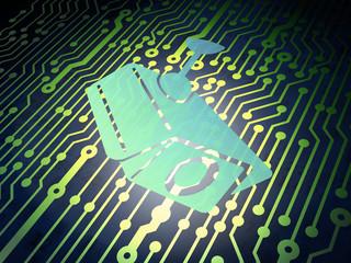 Security concept: circuit board with Cctv Camera