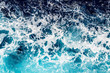 Deep blue sea water with spray - 57825823