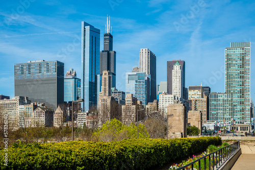 In de dag Grote meren Chicago Skyline