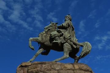 Bohdan Khmelnytsky monument in Kiev, Ukraine