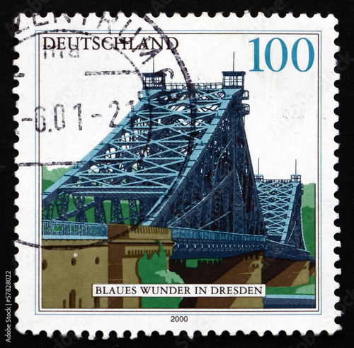 Postage stamp Germany 2000 Blue Wonder Bridge, Dresden