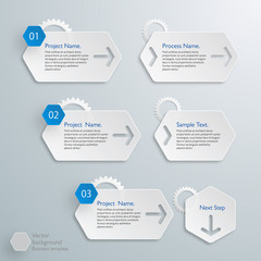 Infographics Vector Background Workflow