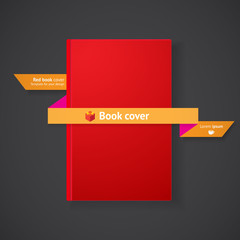 Book cover with ribbon