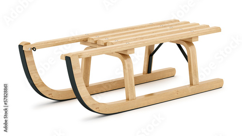 render of a sledge, isolated o white