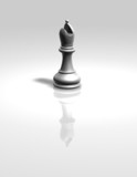 white chess bishop figurine isolated
