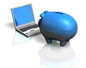 money information finance concept with piggy bank