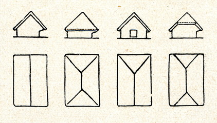 Roofs of cattle sheds (Latvia)