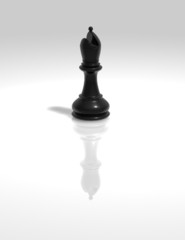 black chess bishop figurine illustration isolated