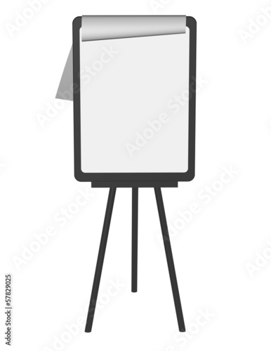 education presentation stand isolated with paper illustration