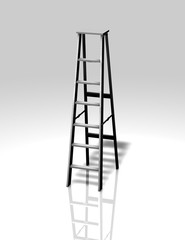 metal ladder illustration isolated