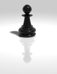 black chess pawn figurine isolated illustration