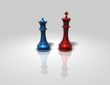 chess king and queen isolated illustration