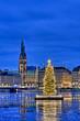 Weihnachtliches Hamburg hochkant