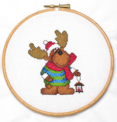 Cross-stitching in the hoop