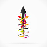Abstract decision arrows concept vector background illustration