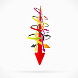 Abstract failure arrows vector concept background illustration
