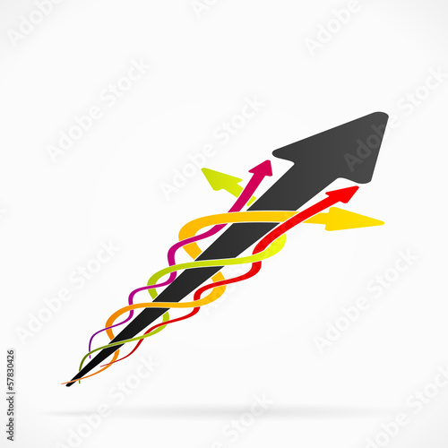 Abstract mainstream arrows concept illustration